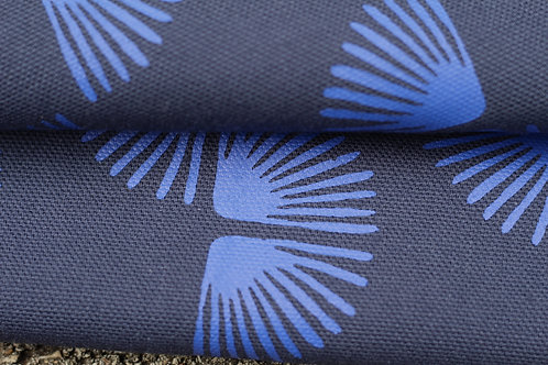 Coupon coton bio marine • Paon bleu outremer