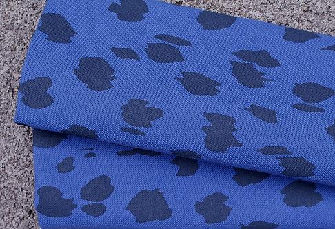Coupon de toile de coton bleu amparo - Imprimé au choix