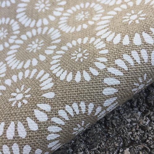 Coupon lin de Normandie flax • Soleil blanc