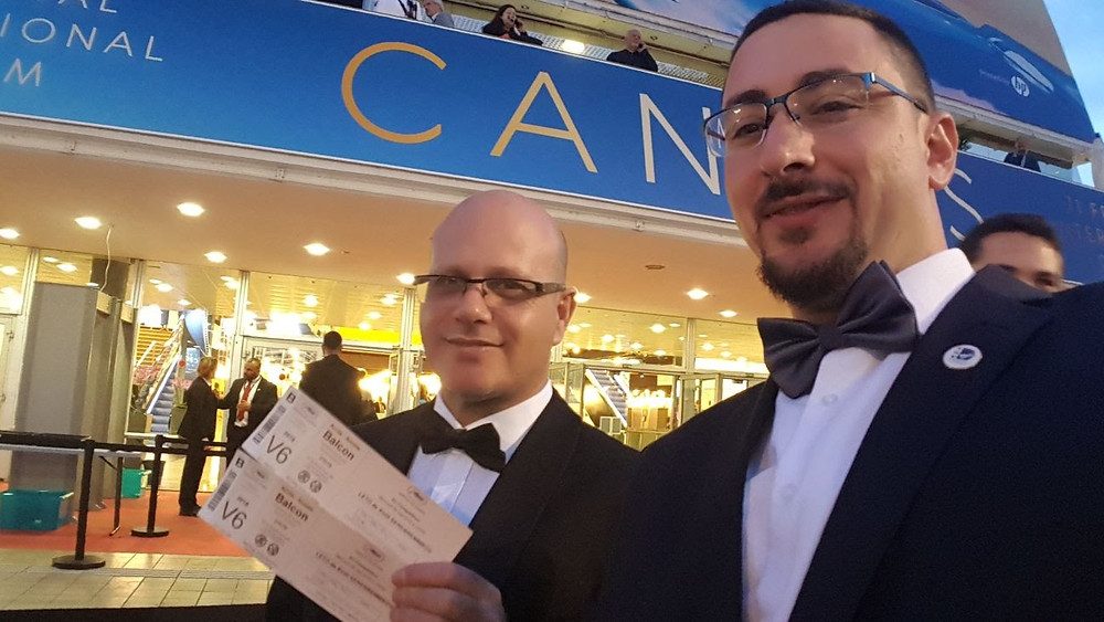 Alon Newman and Matan Melech at the Red Carpet event at Cannes FF 2018
