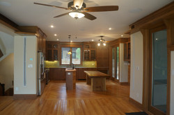 View of kitchen from family room