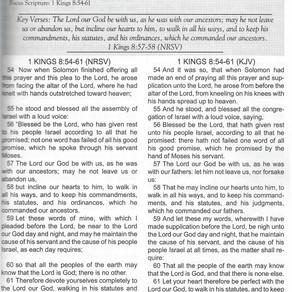 Sunday School Lesson: Solomon's Blessing