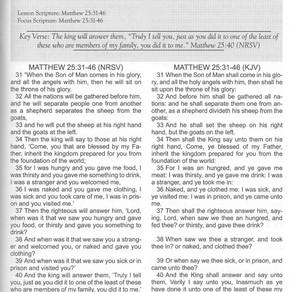 Next Sunday School Lesson: Modeling God's Love