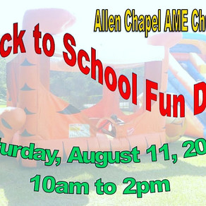 Join Us For The Back to School Fun Day on August 11th!