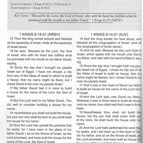 Sunday School Lesson: Solomon's Speech