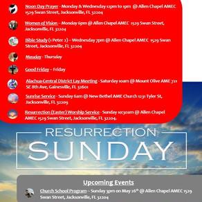This Week @ Allen Chapel AMEC