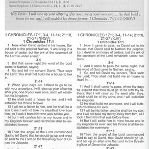 Next Sunday School Lesson: Building God's House