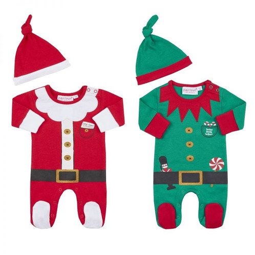 915254001 Premature Baby Novelty Christmas Sleepsuit and Hat Sets. Santa or Elf ...
