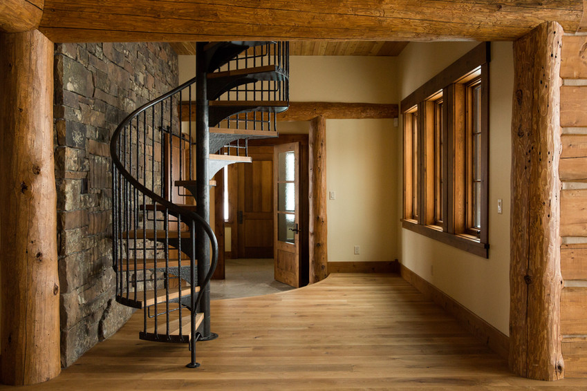 Hand-Forged Spiral Staircase