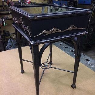 Custom furniture and home decor – hand-forged ironwork made near Whitefish Montana – Samuel J. Welch, Artisan Blacksmith