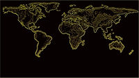Yellow & Black World Map