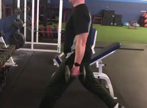 Proper split squat form