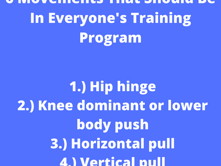 6 Movements that should be in everyone's training program