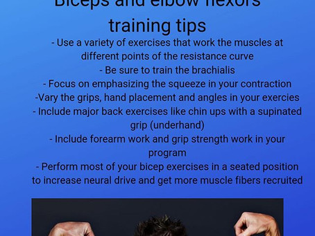 Bicep training tips