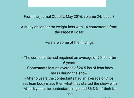 Biggest loser contestants weight & fat regain