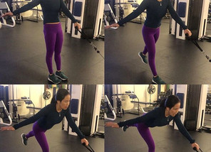 How to perform cable single leg dead lifts