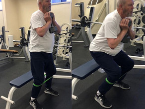 Goblet squats with a twist