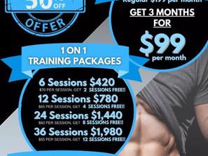 Holiday Training Specials!!!