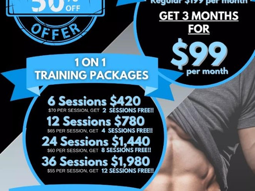 Holiday Training Specials!!!