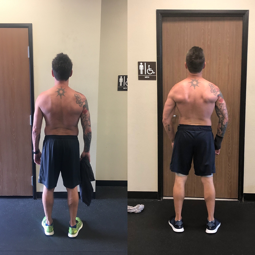 My client Scott's great fat loss and muscle gain progress in just 7 1/2 weeks