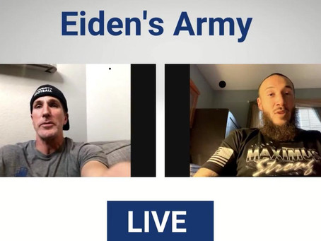 Facebook Group (Eiden's Army) chat with my cousin, pro kickboxer Richard Abraham
