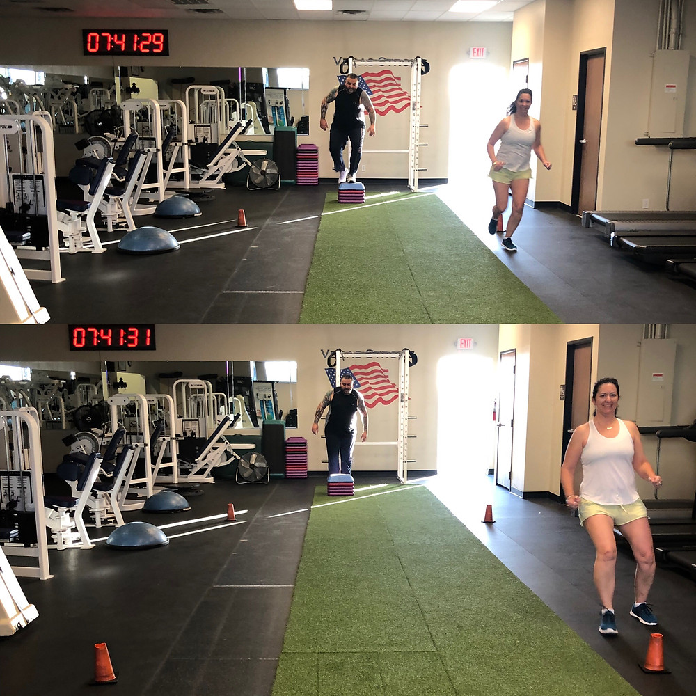 My clients doing one of my high intensity, interval training workouts