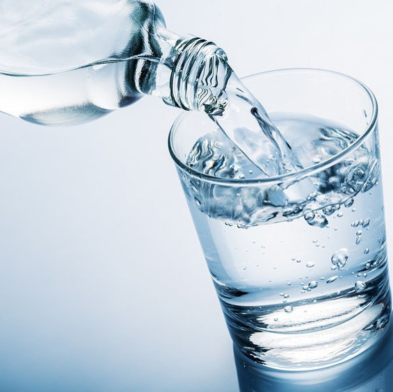 A good habit to get into is to drink a big glass of water when you get up in the morning