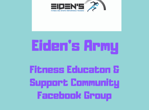 Eiden's Army, Fitness Education & Support Community Facebook Group