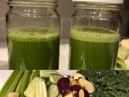 Juicing with greens