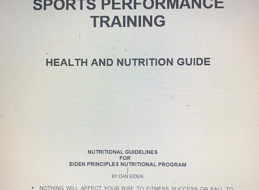Nutritional guidance = A necessary part of any trainer and coaches job
