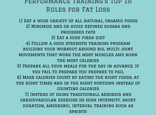 Top 10 Rules For Fat Loss