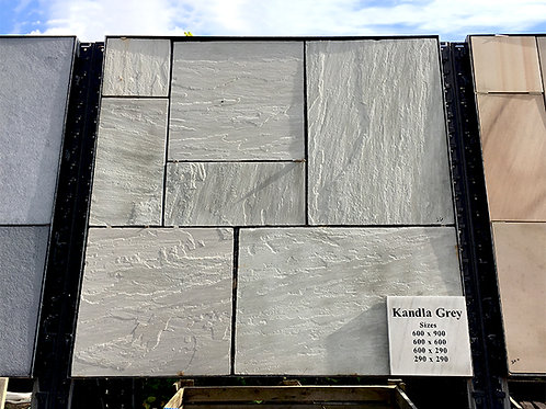 Kandla Grey, Riven, Chiselled Edge (22mm thick)