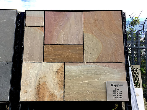 Rippon Patio Pack, Riven, Chiselled Edge (22mm thick)