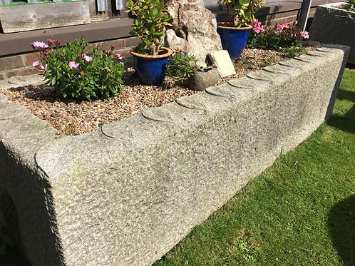 8 FT Granite Trough with Leaf Detail
