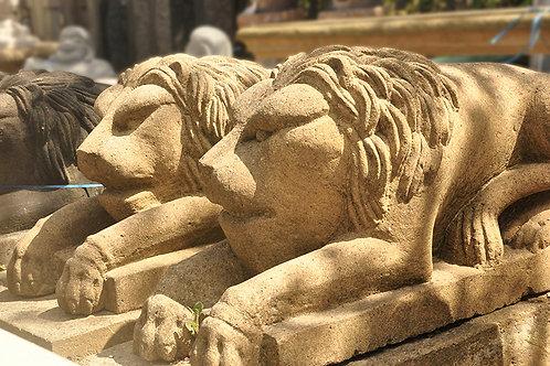 Sandstone Lion Statues