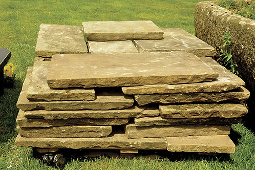 Responsibly Reclaimed Yorkstone Paving