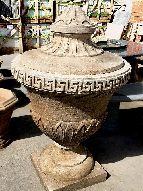 Large Grecian Handmade Ornamental Gritstone Urn