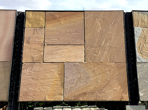 Artisan Dune Patio Pack, Riven, Chiselled Edge (22mm thick)