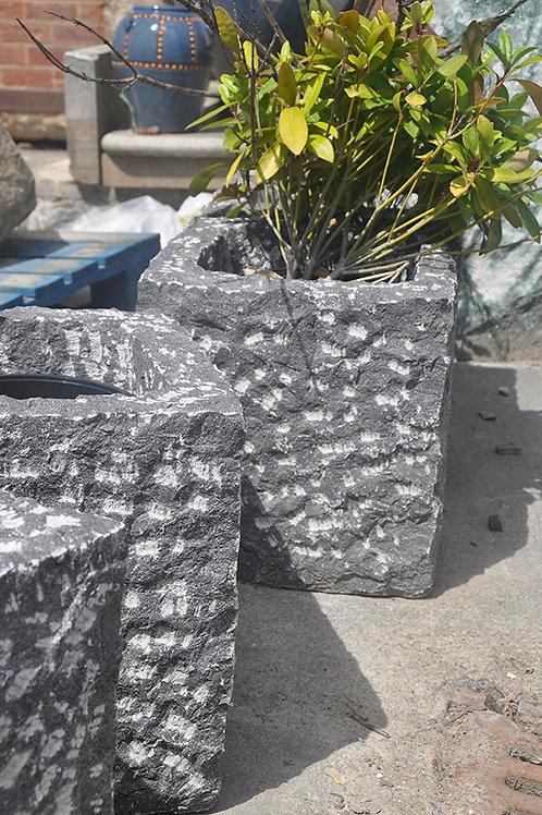 Square Granite Planter Medium