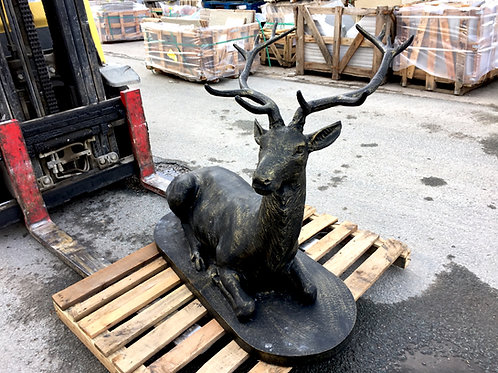 Cast Iron Stag Sitting
