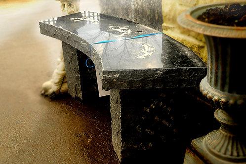 Granite Curved Koi Bench