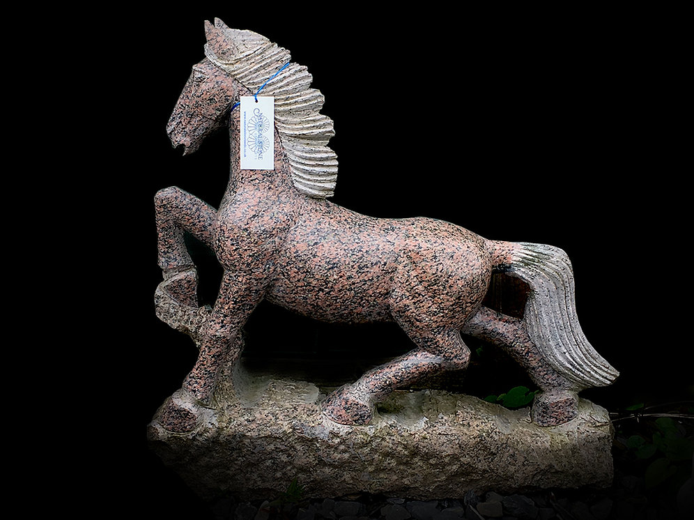 Large Granite Horse Pony Salmon Wellstonedleeds