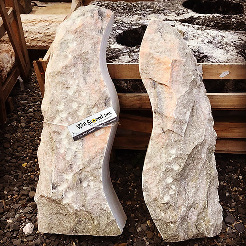 Pink - Grey Marble Twin Standing Stone