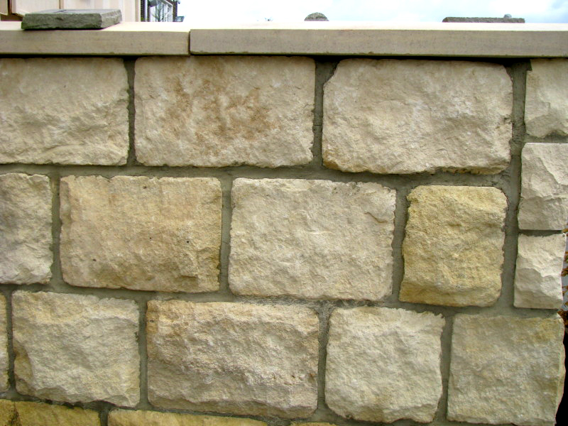 215mm Cream Tumbled Limestone