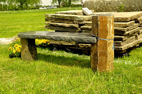Granite Basalt Black & Rust Bench