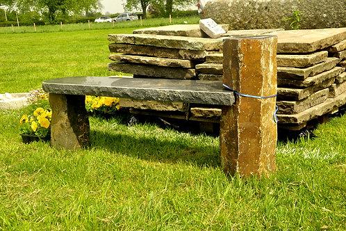 Granite Basalt Black & Rust Bench