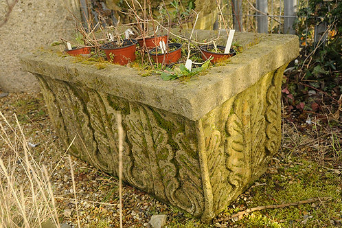 Aged Handmade Gritstone Trough (1 available)