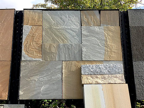 Artisan Whitby Patio Pack, Riven, Chiselled Edge (22mm thick)