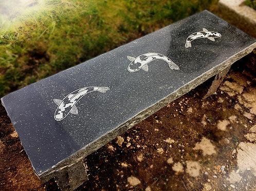Granite Straight Koi Bench