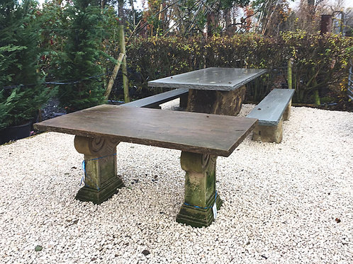 Riven Sandstone Table with Aged Sandstone base